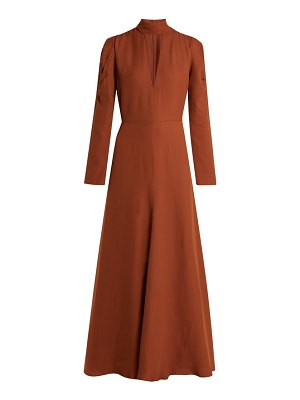 Chloe v-neck silk-blend crepe dress