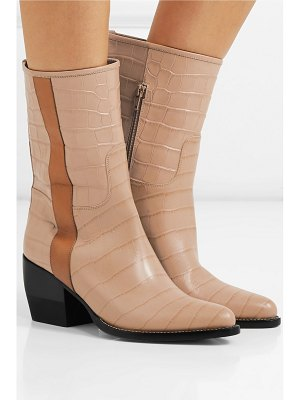 Chloe vinny croc-effect leather ankle boots