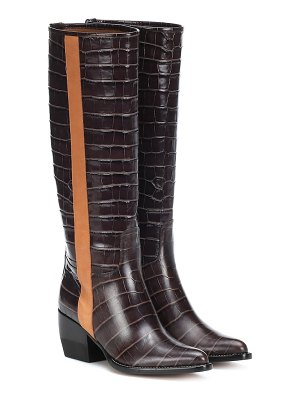 Chloe vinny embossed leather boots