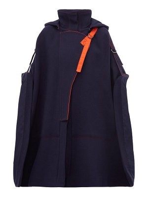 Chloe virgin wool blend buckled shoulder cape