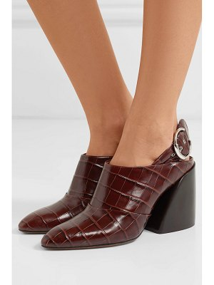 Chloe wave croc-effect leather slingback pumps