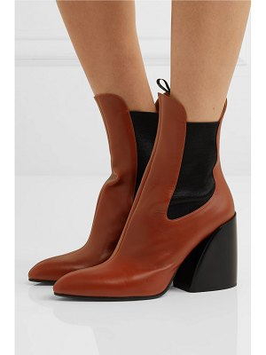 Chloe wave leather ankle boots