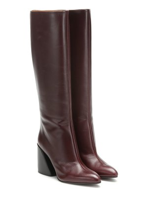 Chloe wave leather boots