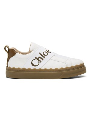 Chloe white and brown lauren sneakers