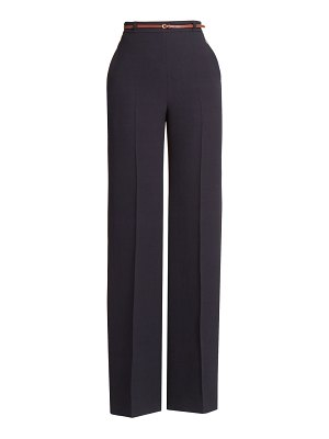 Chloe wide-leg double-face crepe trousers