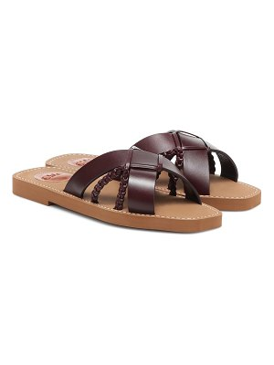 Chloe woody leather sandals
