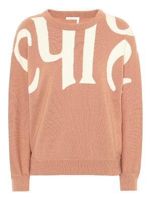 Chloe wool and cotton sweater