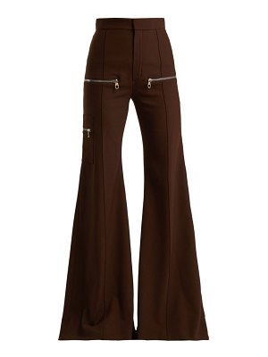 Chloe Wool-blend flared trousers