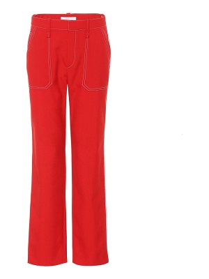 Chloe wool-blend straight-leg trousers