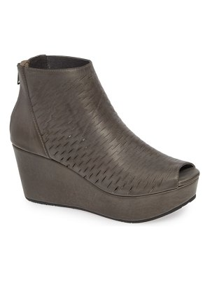 Chocolat Blu warner perforated platform bootie