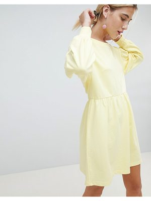 Chorus balloon sleeve smock sweat dress