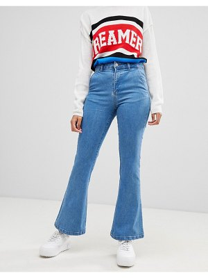 Chorus flared jeans with star foil back pockets