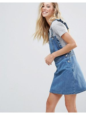 Chorus frill side denim dugaree dress