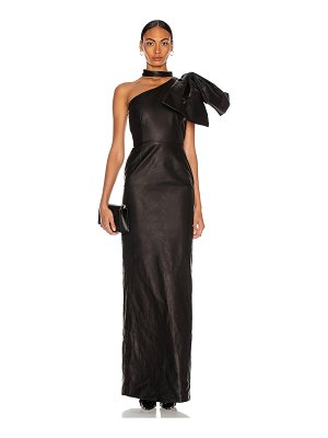 CHRISTIAN COWAN leather one shoulder leather dress