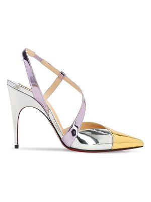 Christian Louboutin 100mm platina specchio leather pumps