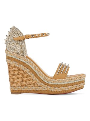 Christian Louboutin 120mm madmonica leather & rope wedges
