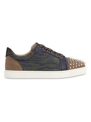 Christian Louboutin 20mm vieira spiked camouflage sneakers