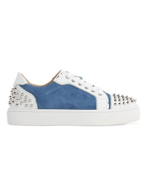 Christian Louboutin 35mm vierissima suede & leather sneakers