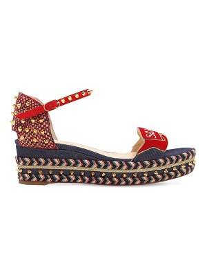 Christian Louboutin 60mm s padrilla denim & suede wedges