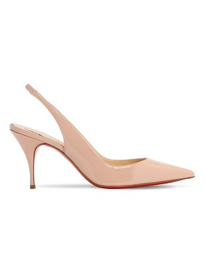 Christian Louboutin 80mm clare leather slingback pumps