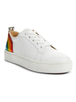 Christian Louboutin arkenspeed rainbow low top sneaker