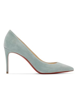Christian Louboutin blue suede kate heels