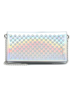 Christian Louboutin boudoir metallic leather clutch
