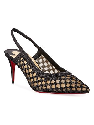 Christian Louboutin Cage Slingback Red Sole Pumps