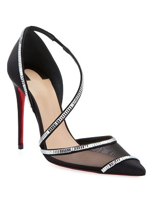 Christian Louboutin Chiara Embellished Red Sole Pumps