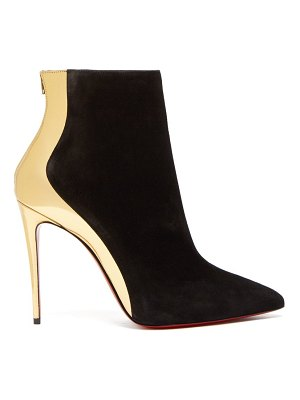 Christian Louboutin delicotte 100 suede and leather ankle boots