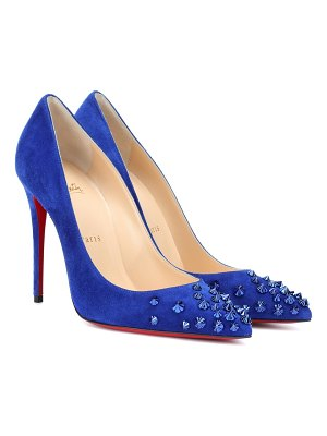 Christian Louboutin drama 100 suede pumps