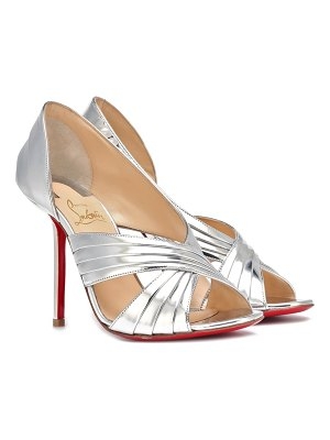 Christian Louboutin Drapa Notta 100 leather sandals