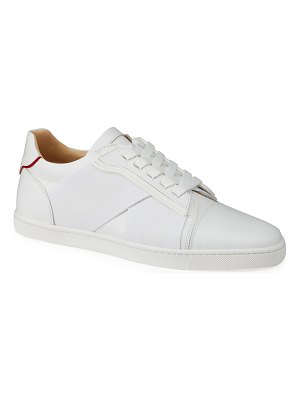 Christian Louboutin Elastikid Leather Red Sole Low-Top Sneakers