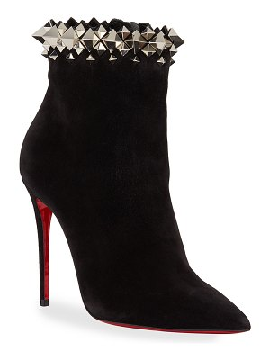 Christian Louboutin Firmamma Suede Spike Red Sole Booties