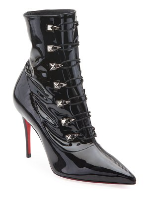 Christian Louboutin Frenchissima Patent Red Sole Booties