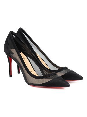 Christian Louboutin galavati 85 suede and mesh pumps