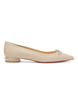 Christian Louboutin hall spike embellished leather ballet flats