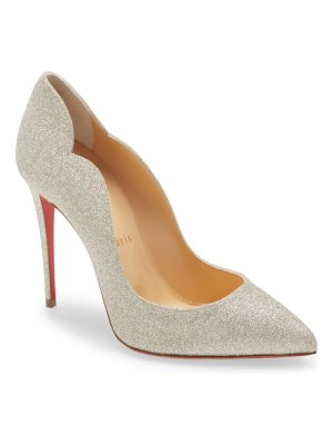 Christian Louboutin hot chick glitter pointed toe pump