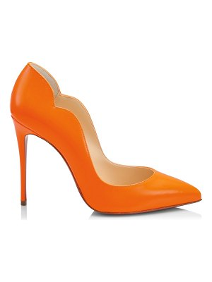 Christian Louboutin hot chick neon leather pumps