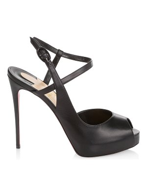 Christian Louboutin jenlove alta 120 leather ankle-strap peep-toe sandals