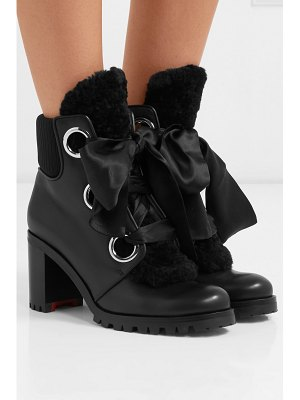 Christian Louboutin jenny from the alps 70 shearling and leather ankle boots