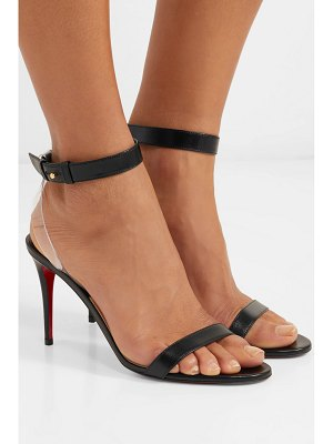 Christian Louboutin jonatina 85 pvc-trimmed leather sandals