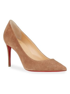 Christian Louboutin Kate 85mm Suede Red Sole Pumps