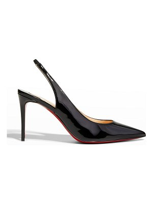 Christian Louboutin Kate Sling Patent Calfskin Red Sole Pumps