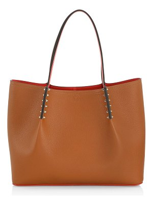 Christian Louboutin large cabarock spiked leather tote