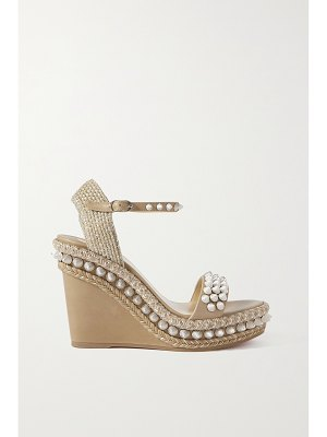 Christian Louboutin lata 110 spiked leather espadrille wedge sandals