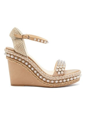 Christian Louboutin lata studded leather wedge sandals