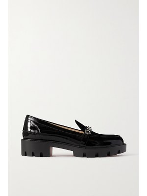 Christian Louboutin lock woody 50 embellished patent-leather platform loafers