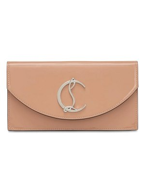 Christian Louboutin Loubi54 patent leather clutch