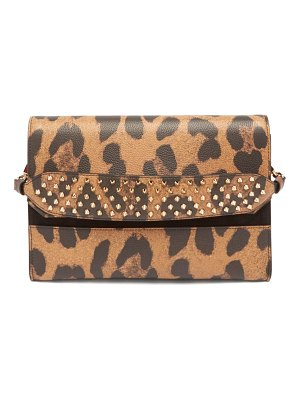 Christian Louboutin loubiblues leopard print leather clutch bag